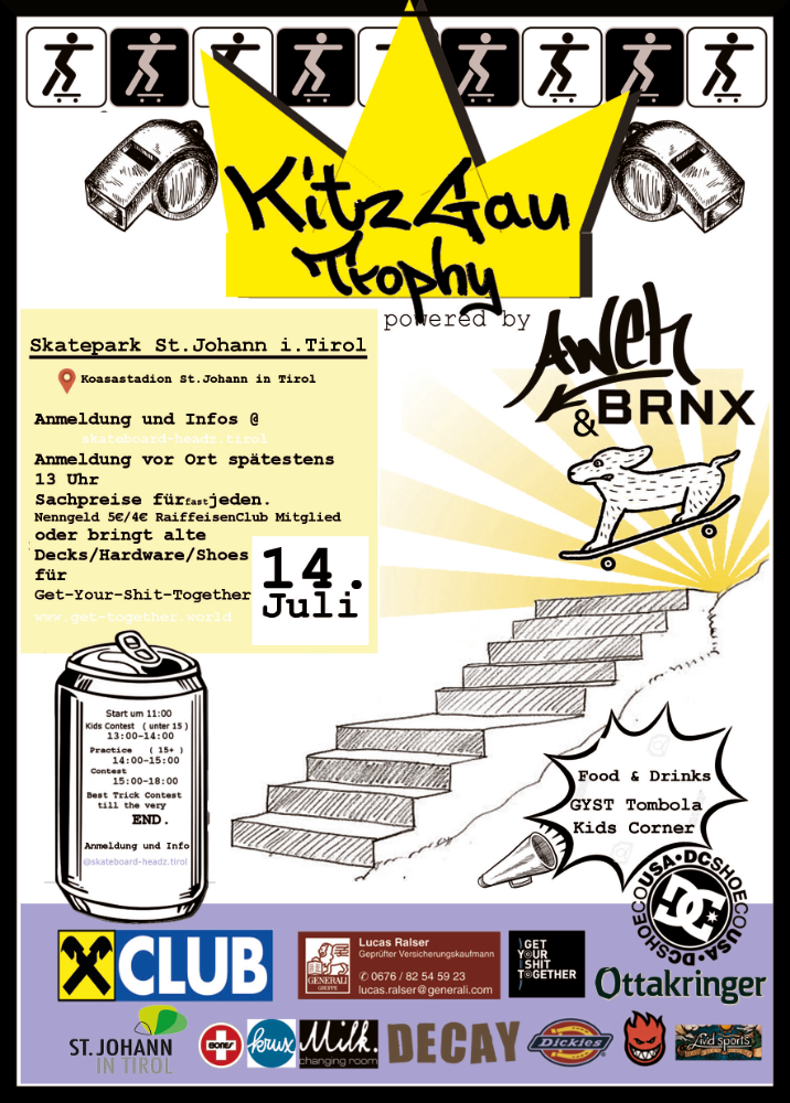 skateboard headz fieberbrunn contest flyer 14 7 2018 st johann in tirol
